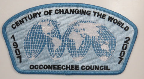 Occoneechee Council 1907-2007 Century Of Changing The World  CSP LBL Bdr. [C-290]