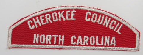 Cherokee Council North Carolina RWS Red & White Strip (Rated 7) WHT Bdr. [C-308]