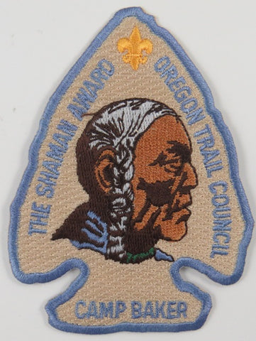 Oregon Trail Council The Shaman Award Camp Baker BBL Bdr. [C-658]