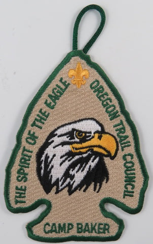 Oregon Trail Council The Spirti Of The Eagle Camp Baker GRN Bdr. [C-659A]