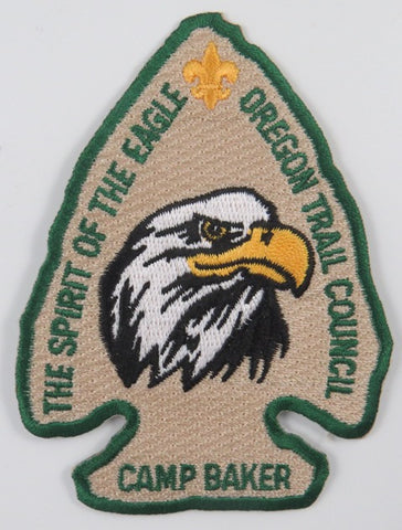 Oregon Trail Council The Spirti Of The Eagle Camp Baker Patch GRN Bdr. [C-659]