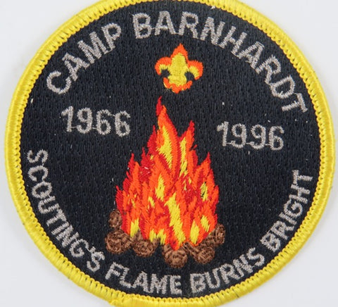 1966- 1996 Camp BarnHardt Scouting's Flame Burn Bright YEL Bdr. [C-662]