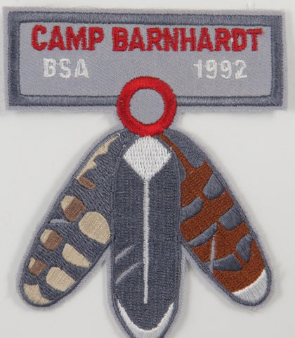 1992 Camp BarnHardt BSA Central NC Council [C-663]