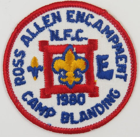 1980 Camp Blanding Ross Allen Encampment N.F.C. RED Bdr. [C-670]