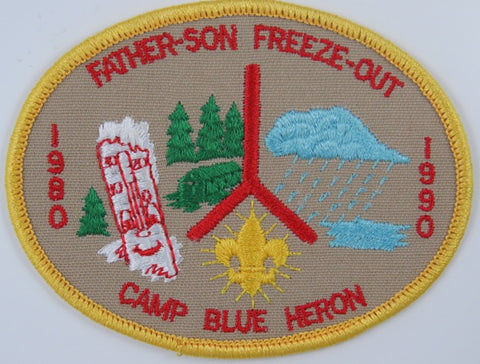 1980-1990 Father-Son Freeze-Out Camp Blue Heron DYL Bdr. [C-691]