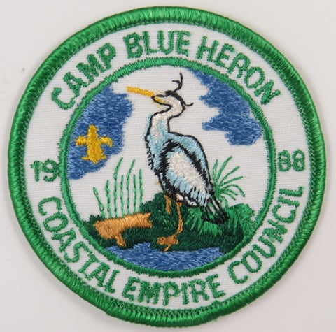 1988 Coastal Empire Council Camp Blue Heron GRN Bdr. [C-693]