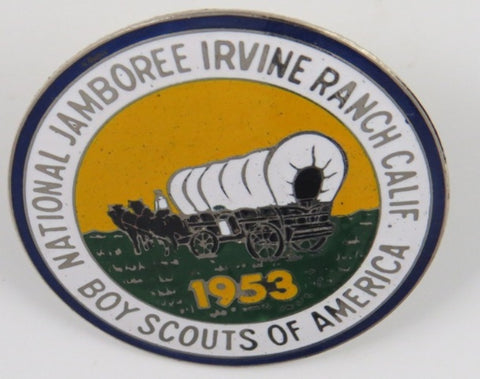 1953 National Jamboree Irvine Ranch Calif. Metal Neckerchief Slide Boy Scout Of America [C6]