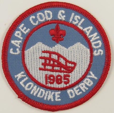 1985 Cape Cod And Islands Klondike Derby RED Bdr. [C-706]