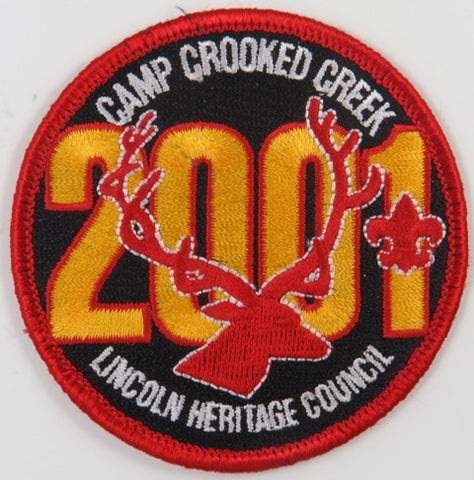 2001 Lincoln Heritage Council Camp Crooked Creek RED Bdr. [C-720]