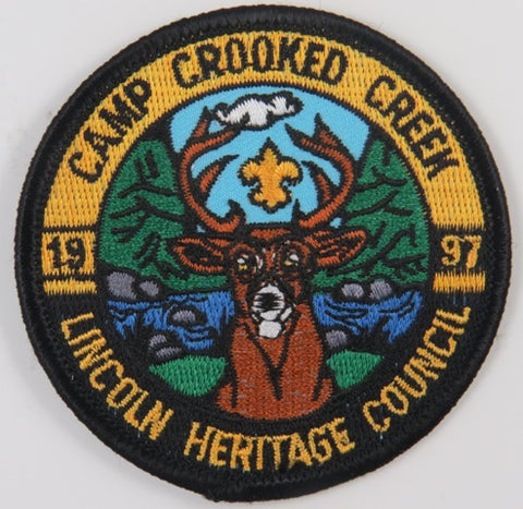 1997 Lincoln Heritage Council Camp Crooked Creek BLK Bdr. [C-732]