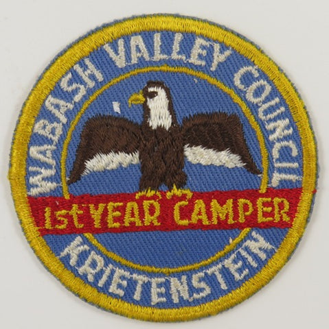 Wabash Valley Council Krietenstein Ist Year Camper YEL Bdr. [C-777]