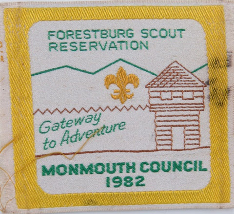 1982 Monmouth Forestburg Scout Reservation Gateway to Adventure [C-786]
