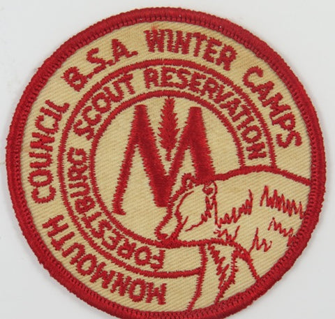 Monmouth Council BSA Winter Camps Forestburg Scout Reservation RED Bdr. [C-795]