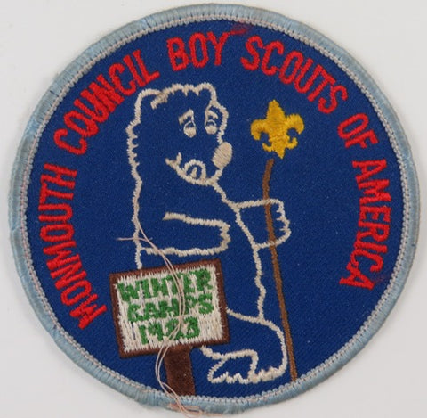 1983 Monmouth Council Boy Scouts Of America Winter Camps BBL Bdr. (sewn) [C-799]