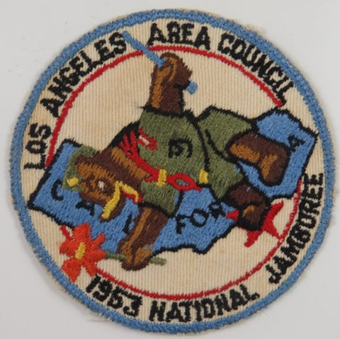 1953 National Jamboree Los Angeles Area Council California LBL Bdr. Patch [C7]