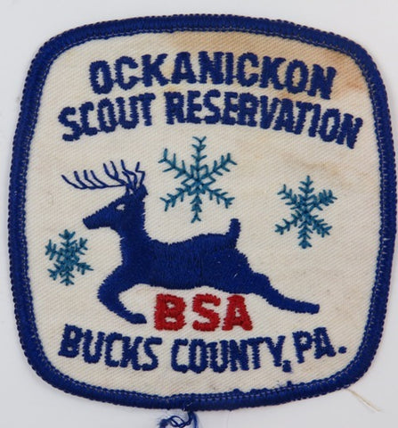 Ockanickon Scout Reservation Bucks County, PA. BLU Bdr. (stain) [C-806]