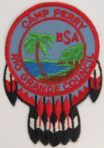 Rio Grande Council Camp Perry BSA RED Bdr. [C-809]