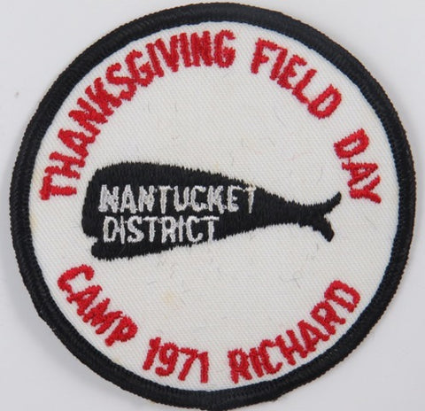 1971 Camp Richard Thanksgiving Field Day Nantucket District BLK Bdr. [C-823]