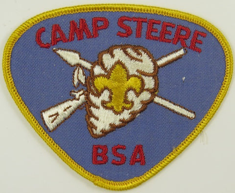 Camp Steere BSA YEL Bdr. BLU Background [C-836]