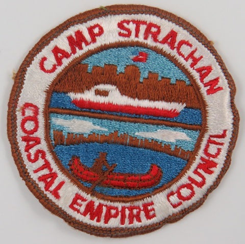 Coastal Empire Council Camp Strachan BRN Bdr. (sewn) [C-841]