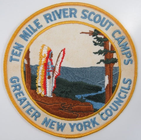Greater New York Councils Ten Mile River Scout Camps Jacket Patch DYL Bdr. [C-848]