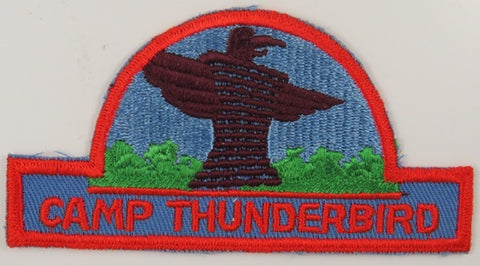 Camp Thunderbird RED Bdr. Hat Shaped Design [C-850]
