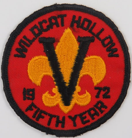 1972 Fifth Year Wildcat Hollow BLK Bdr. (sewn) [C-854]