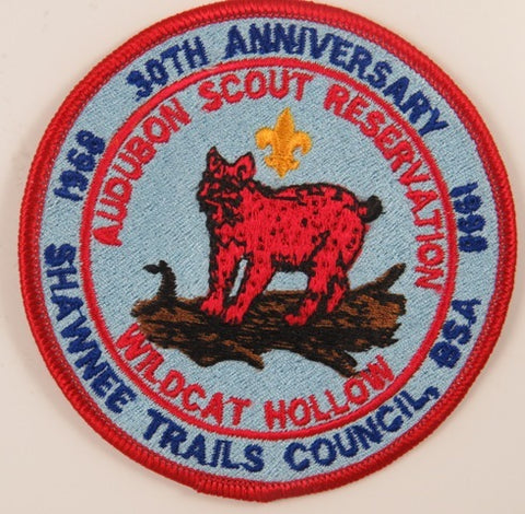 1968-1998 30th Ann. Shawnee Trails Council Audubon Scout Reservation RED Bdr. [C-855]