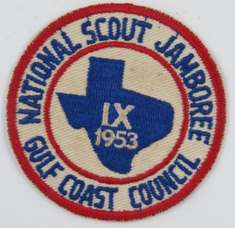1953 IX National Scout Jamboree Gulf Coast Council RED Bdr. [C9]
