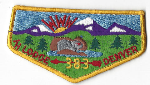 OA Lodge # 383 Tahosa S7 Flap Clothback Pre-fdl Denver Area  [C3115]