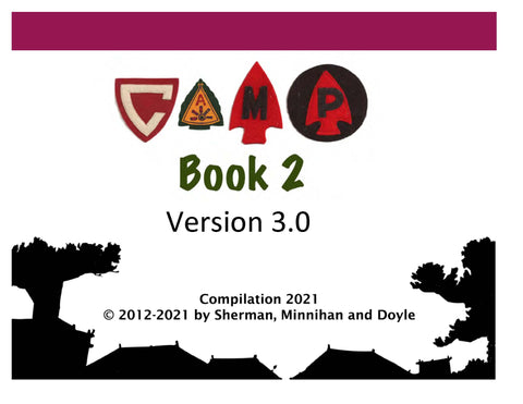 PREORDER The Camp Book II Version 3 (2021) Definitive Guide To BSA Camps Printed Entire Book 1612 Pages 3 Hole Punch