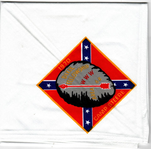 1970 Dixie Fellowship Neckerchief Camp Steere Hosted By Catawba Lodge 459 [CC455]