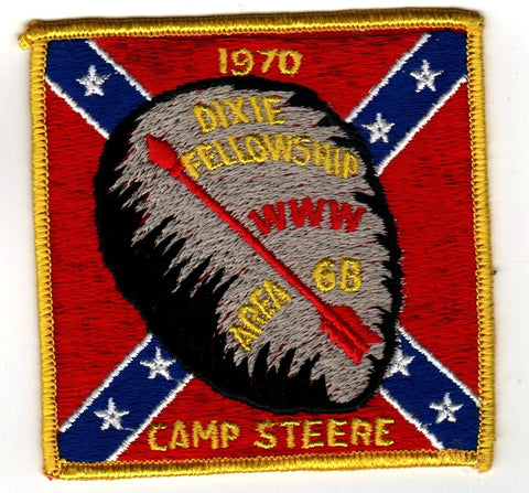 1970 Dixie Fellowship Patch Camp Steere Hosted By Catawba Lodge 459 [CC422]