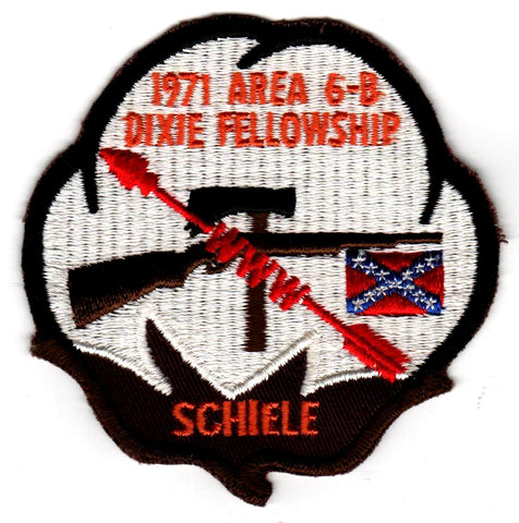 1971 Dixie Fellowship Patch Camp Bud Schiele Hosted By Eswau Huppeday 560