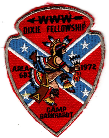 1972 Dixie Fellowship Patch Camp Barnhardt Hosted By Itibapishe Iti Hollo Lodge 188