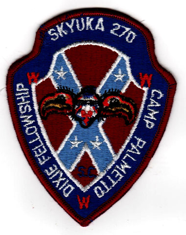 1975 Dixie Fellowship Patch Camp Palmetto Hosted By Skyuka Lodge 270 [CC427]