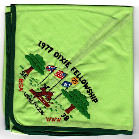 1977 Dixie Fellowship Neckerchief Camp Ho Non Wah Hosted By Un A Li'yi Lodge 236