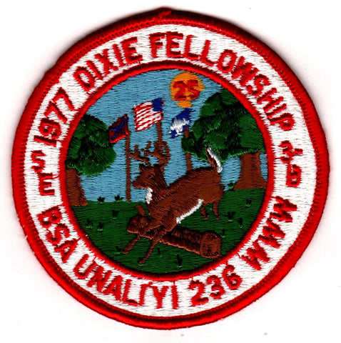 1977 Dixie Fellowship Patch Camp Ho Non Wah Hosted By Un A Li'yi Lodge 236 [CC429]