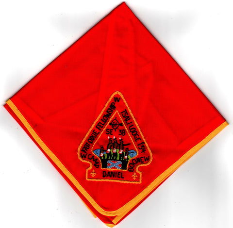 1981 Dixie Fellowship Neckerchief Camp Daniel Boone Hosted By Tsali Lodge 134