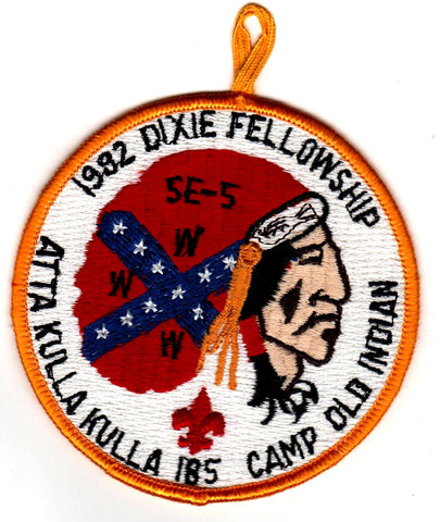 1982 Dixie Fellowship Patch Camp Old Indian Hosted By Atta Kulla Lodge 185 with loop
