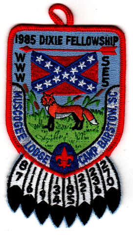 1985 Dixie Fellowship Patch Camp Barstow Hosted By Muscogee Lodge 221