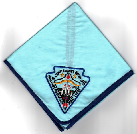 1988 Dixie Fellowship Neckerchief Camp Daniel Boone Hosted By Tsali Lodge 134