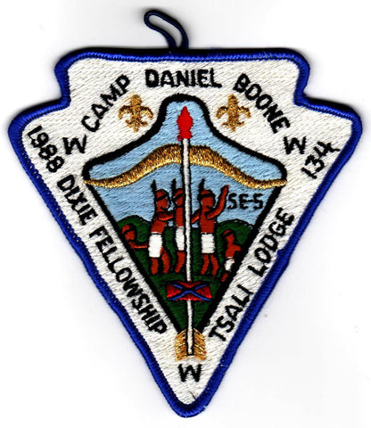 1988 Dixie Fellowship Patch Camp Daniel Boone Hosted By Tsali Lodge 134 [CC442]