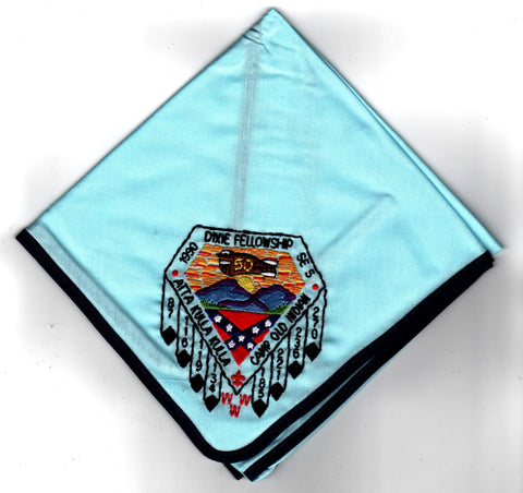 1990 Dixie Fellowship Neckerchief Camp Old Indian Hosted By Atta Kulla Lodge 185 [CC474]