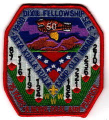 1990 Dixie Fellowship Patch Camp Old Indian Hosted By Atta Kulla Lodge 185 [CC444]