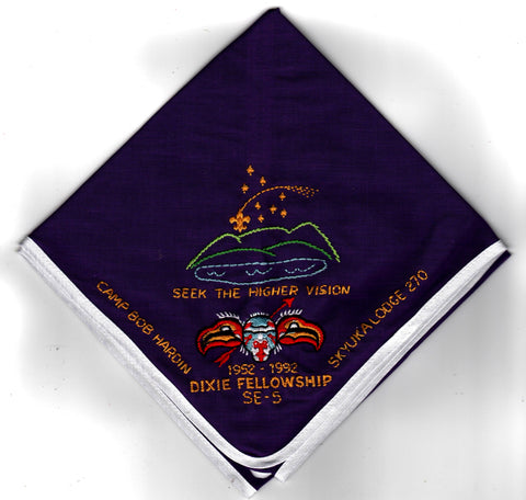 1992 Dixie Fellowship Neckerchief Camp Bob Hardin Hosted By Skyuka Lodge 270