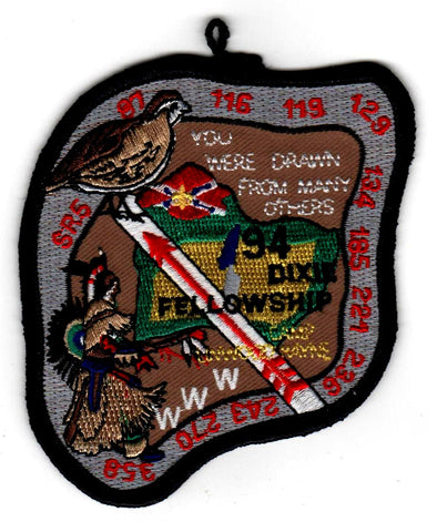 1994 Dixie Fellowship Patch Camp Linwood Hayne Hosted By Bob White Lodge 87 [CC451]