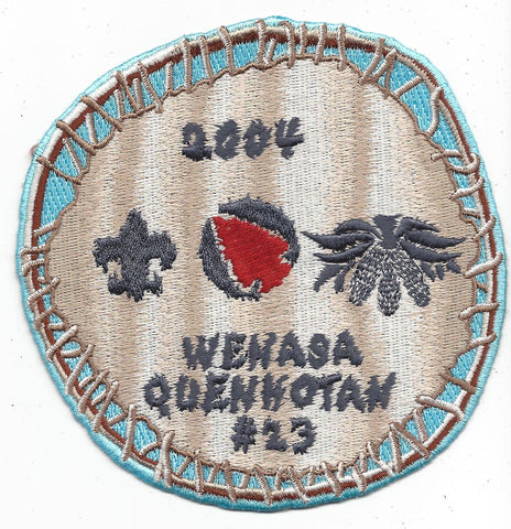 OA Lodge # 23 Wenasa Quenhotan 2004 Patch W. D. Boyce Council