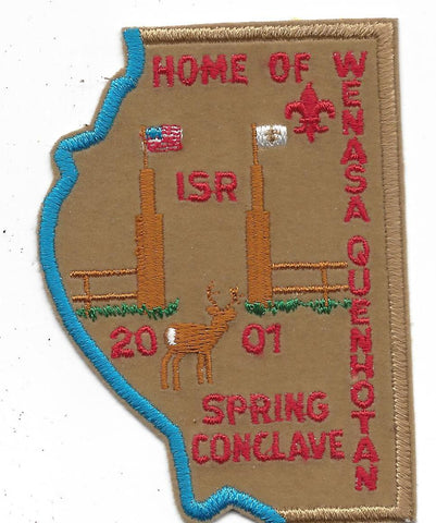 OA Lodge # 23 Wenasa Quenhotan 2001 Spring Conclave Patch W. D. Boyce Council