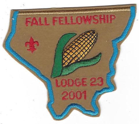 OA Lodge # 23 Wenasa Quenhotan 2001 Fall Fellowship Patch W. D. Boyce  [IL316]
